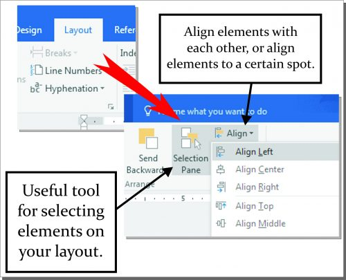 Offering envelope tutorial - how to open Selection Pane in Word