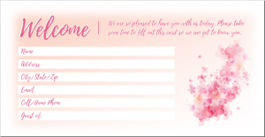 Mother's Day visitor card