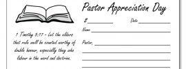 Pastor appreciation offering envelope Template 3