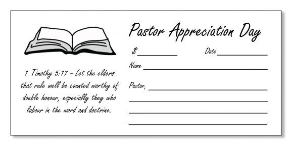 Pastor Appreciation Offering Envelopes: How to Design and ...