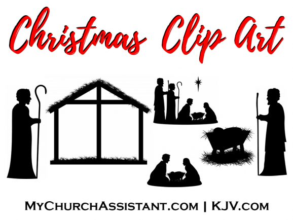 free Christmas manger clip art