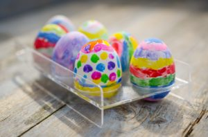 Hand painted eggs are a great craft for kids day for Easter outreach