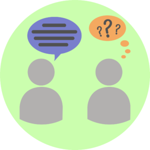 Illustration showing bad communication