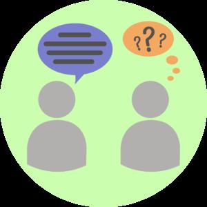Illustration showing bad communication
